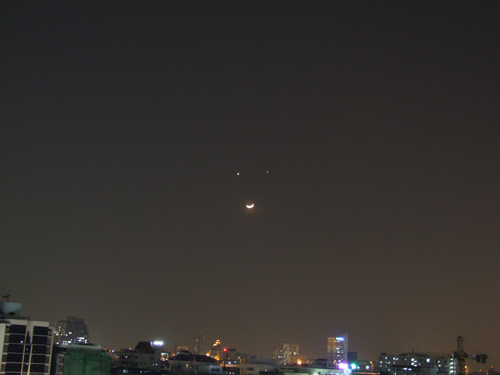 Smiling Moon over Bangkok