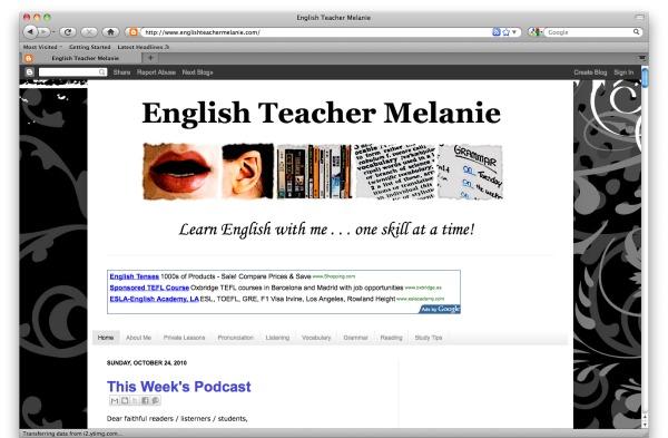 www.englishteachermelanie.com