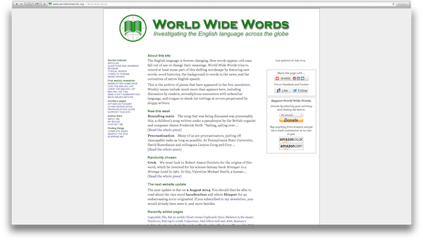World Wide Words Site