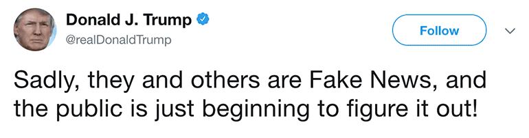 Trump on Fake News - Twitter