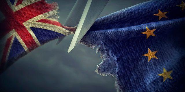 Brexit concept flags