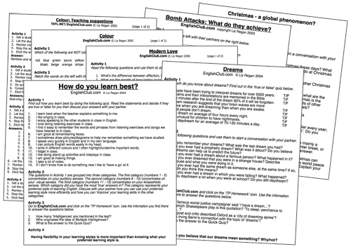 Conversation Worksheets ESL Worksheets EnglishClub