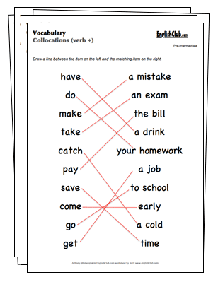 Vocabulary Worksheets | EnglishClub.com