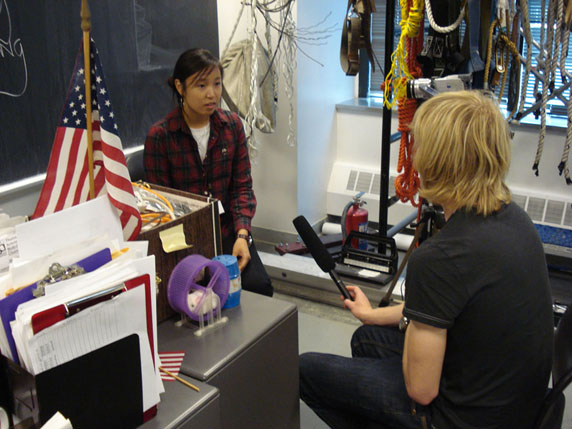 Interviewing an international English student at LSI, New York, USA