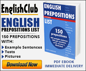 English Preposition List - PDF ebook for immediate download