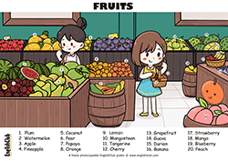 Fruits Vocab