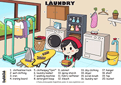 LAUNDRY English vocab