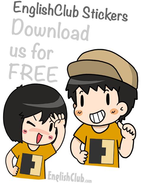 Englishclub stickers free download
