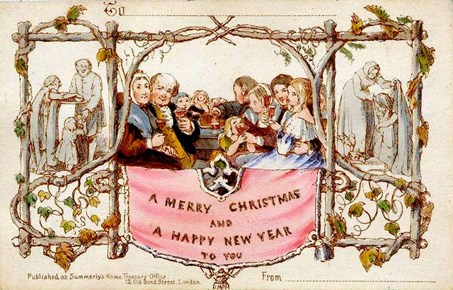 the first commercially-produced Christmas card