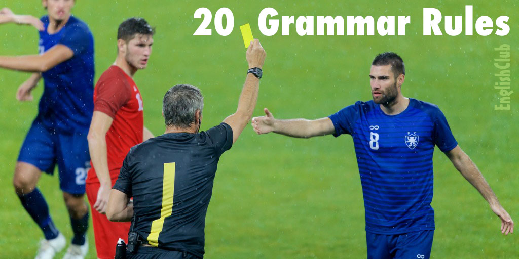 rules of the game - football or grammar