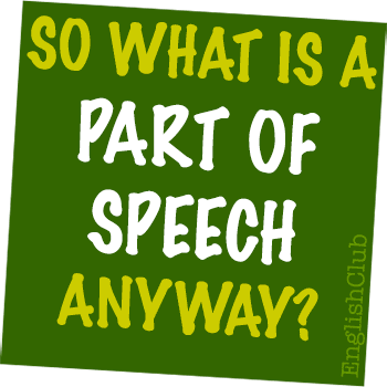 photo about Parts of Speech Chart Printable identified as Elements of Speech Grammar EnglishClub