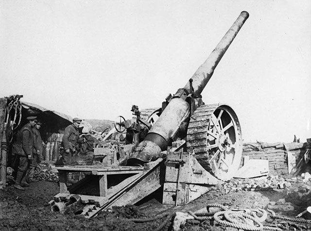 British big gun of First World War