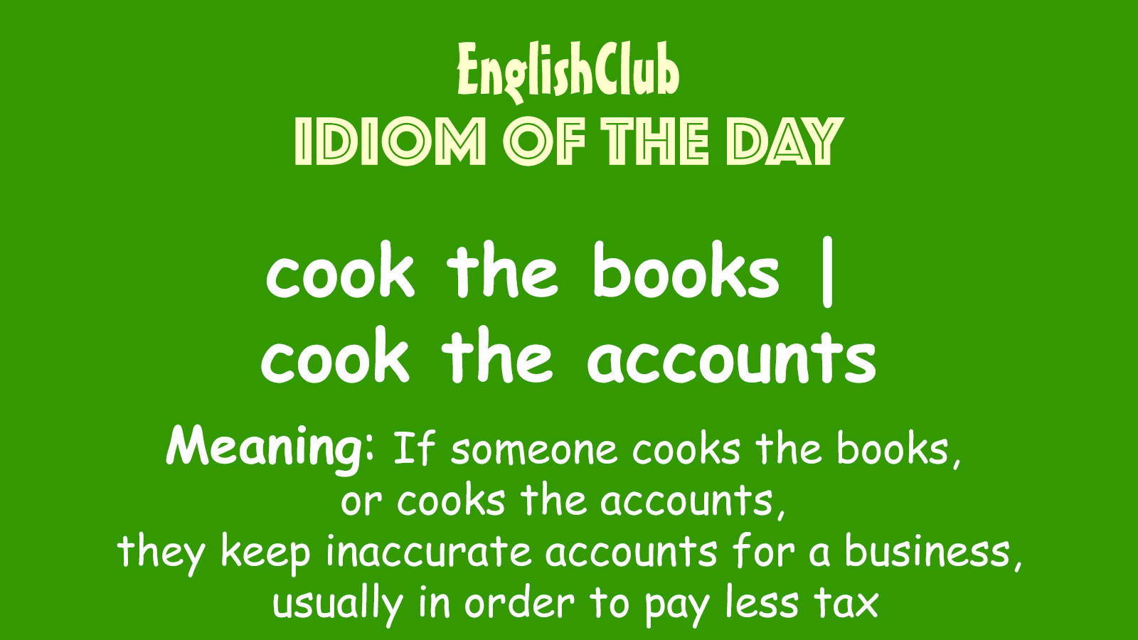 cook the books | cook the accounts