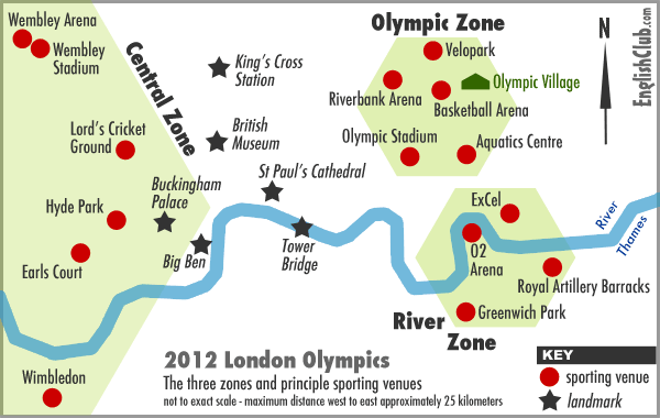 2012 London Olympics Zones Map