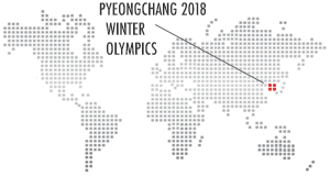 Location map for Pyeongchang