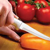 cutting a pepper