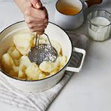 mashing potatoes