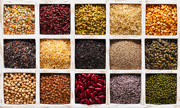 Grains, beans and nuts