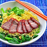 noodles with red pork