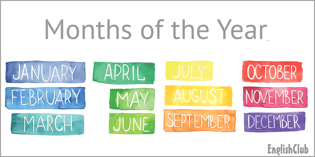 Months of the Year | Vocabulary | EnglishClub