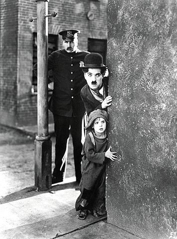 Charlie Chaplin in the 1917 silent comedy The Kid