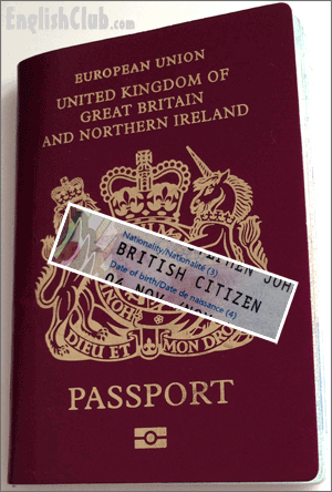 passport of the United Kingdom