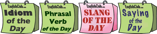 Word of the Day - idioms, phrasal verbs, slang and sayings