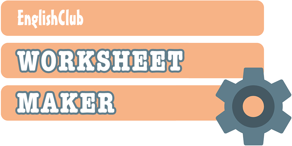 Matching Worksheet Maker | ESL Worksheets | EnglishClub