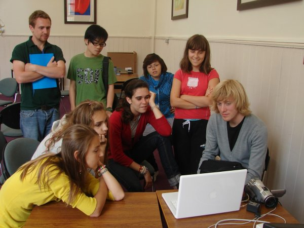 Daniel Emmerson and Joel Carr teaching ESL Film Academy students at Millfield Summer School 2008