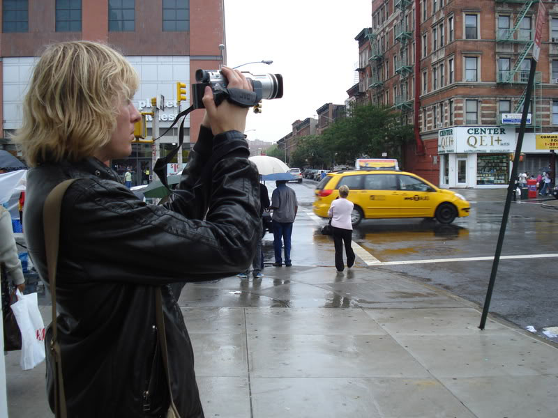 filming in Harlem