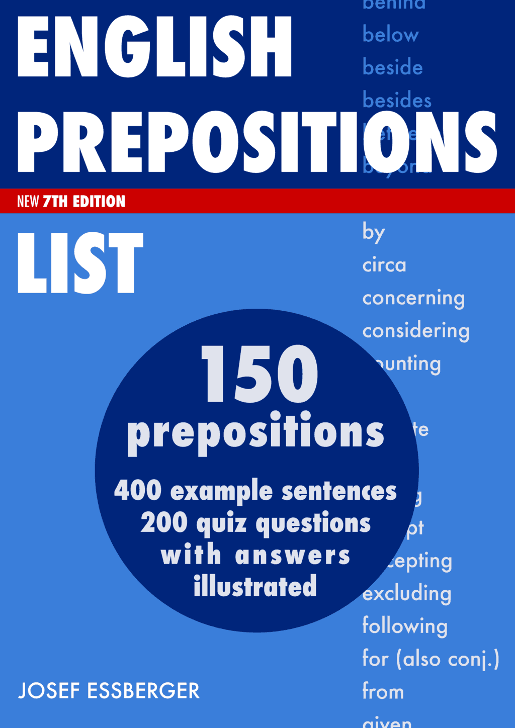 English prepositions list