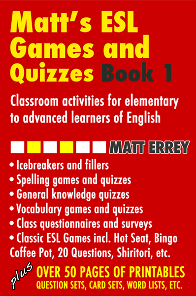 Matt's ESL Games and Quizzes PDF ebook