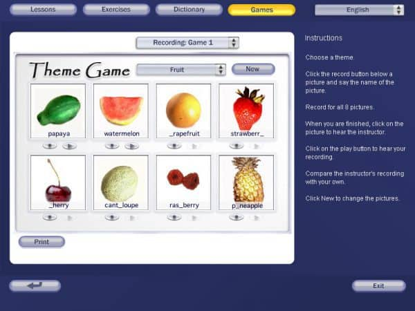 Pronunciation Power Theme Game